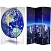 6 ft. Tall Double Sided Earth Room Divider