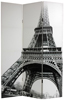 6 ft. Tall Double Sided Eiffel Tower Canvas Room Divider