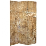 6 ft. Tall Double Sided Sandy Meadows Canvas Room Divider Screen