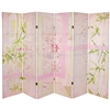 5¼ ft. Pink Harmony Canvas Room Divider Screen