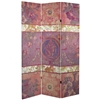 6 ft. Tall Double Sided Vintage Emplem Canvas Room Divider Screen