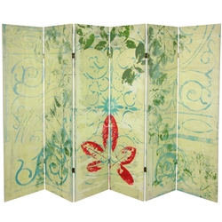 5ft Tall Garden Gate Canvas Room Divider Screen