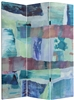 5 ft. Tall Ocean Dance Canvas Room Divider Screen