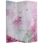 5 ft. Tall Pink Boudoir Canvas Room Divider Screen