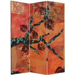 5 ft. Tall Rich Autumn Canvas Room Divider Screen