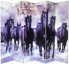 6 ft. Tall Double Sided Horses Canvas Room Divider 6 Panel