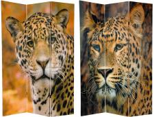 6 ft. Tall Double Sided Leopard Room Divider