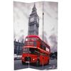 6ft Tall Double Decker Bus London Room Divider Screen