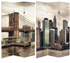 6 ft. Tall Double Sided New York East River Canvas Room Divider