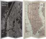 6 ft. Tall Double Sided Map of New York City