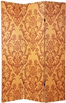 6 ft. Tall Double Sided Damask Room Divider