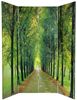 6 ft. Tall Double Sided Path of Life Canvas Room Divider 4 Panel