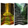 6 ft. Tall Double Sided Trail of Joy Canvas Room Divider Screen