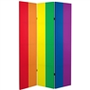 6 ft. Tall Double Sided Rainbow Canvas Room Divider Gay Pride