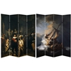 6 ft. Tall Double Sided Works of Rembrandt Canvas Room Divider Screen