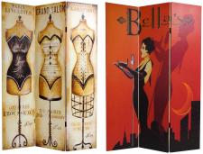 6 ft. Tall Double Sided Mannequin and Singer Canvas Room Divider