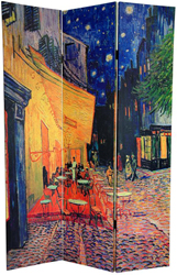 6 Ft Tall Double Sided Works Of Van Gogh Canvas Room