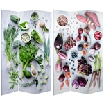 6 ft. Tall Double Sided Farmer's Market Canvas Room Divider
