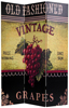 6 ft. Tall Double Sided Grapes and Cherries Canvas Room Divider