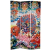 6ft Tall Palden Lhamo Double Sided Canvas Folding Screen Partition
