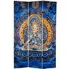 6ft Tall Radiant Tara Tibetan Double Sided Canvas Folding Screen