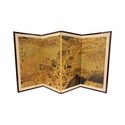3ft  Ching Ming Festival Asian Decorative Folding Screen