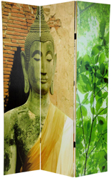 6 ft. Tall Draped Buddha Double Sided Room Divider