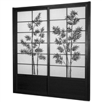 7 ft. Tall Bamboo Tree Shoji Sliding Door Kit