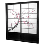 7 ft. Tall Cherry Blossom Shoji Sliding Door Kit