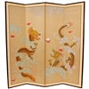 6 ft. Tall Dragons Playing Decorative Folding Screen