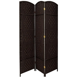 7 ft. Tall Diamond Weave Room Divider Screen (more panels & finishes)