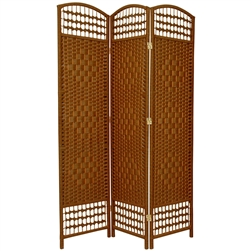5 ½ ft. Tall Fiber Weave Room Divider Screen (more panels & finishes)