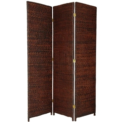 6 ft. Tall Rush Grass Woven Folding Screen Partition (more panels available)
