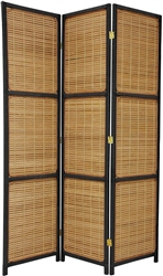 6 ft. Tall Woven Accent Room Divider (more panels & finishes)