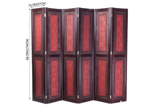 oriental wooden folding screen room divider partition