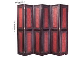 Decorative Oriental Wooden Folding Screen Room Divider Partition