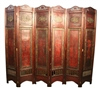 Decorative Vintage 6 Panel Asian Screen II