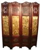 Decorative Vintage 4 Panel Folding Screen