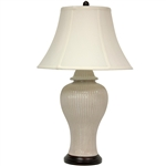 Asian/Oriental Carinated Ivory Vase Lamp