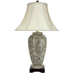 "Asian/Oriental 29"" Victorian Porcelain Vase Lamp"