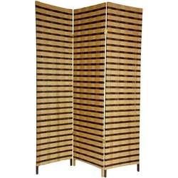 6 ft. Tall Two Tone Natural Fiber Room Divider Screen Partition (more panels available)