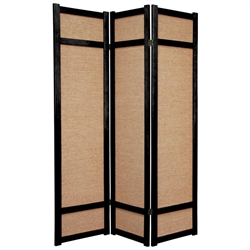 6 ft. Tall Jute Shoji Room Divider Screen (more panels & finishes)
