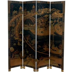 6 ft. Tall Ching Ming Festival Decorative Folding Screen