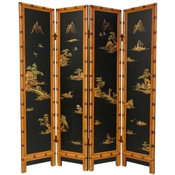 6 ft. Tall Ching Room Divider Decorative Folding Screen