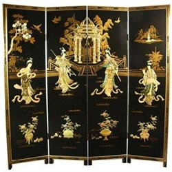 6 ft. Tall Dancing Ladies Screen Decorative Folding Screen