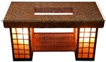 Rattan/Shoji Coffee Table Lamp