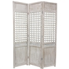6ft Tall Distressed Open Latice Decorative Room Screen