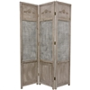 6ft Tall Room Divider in Anitique Style Open Mesh