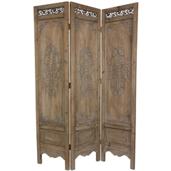 6ft Tall Antique Style Decorative Partition Screen