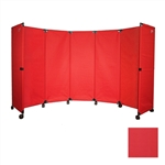 Portable Folding Wall Partition on Wheels